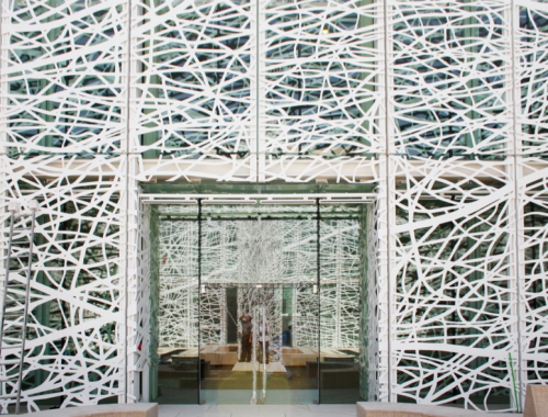 Facade fabricated by A. Zahner specializes in the void.