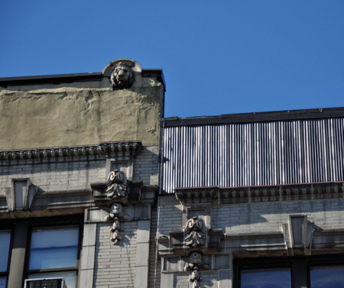 The decorative cornices of Washington Heights are dissapearing.