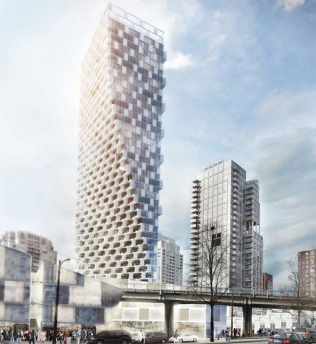BIG's proposed tower in Vancouver. (BIG/Courtesy Vancity Buzz)
