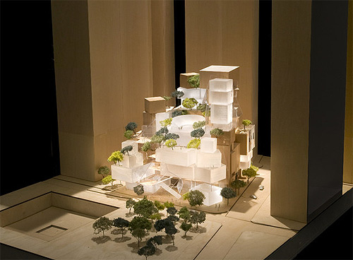 An early model for Frank Gehry's WTC performing arts center. (Courtesy Gehry Partners)