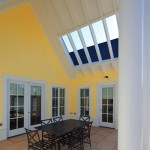 The covered patio at the Patriot Home. (Courtesy Michael Graves & Associates)