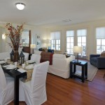 An open living and dining area allows easier maneuverability. (Courtesy Michael Graves & Associates)