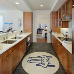 The kitchen in the Patriot Home allows full wheelchair turning radius. (Courtesy Michael Graves & Associates)