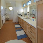 Cabinets beneath sinks are removable to allow easy wheelchair access. (Courtesy Michael Graves & Associates)
