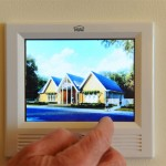 A touch screen automation system allows easy control of home temperatures and a security system. (Courtesy Wounded Warrior Home Project)