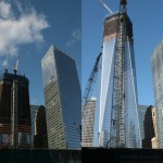 One World Trade in January of last year (left) and today.