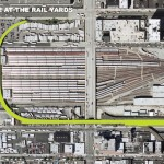 The rail yards section of the High Line is located between West 30th and West 34th streets and from 10th to 12th avenues.