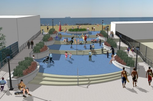 The city's plans for a new $11 million entrance to Coney Island beach (Courtesy NYC EDC)