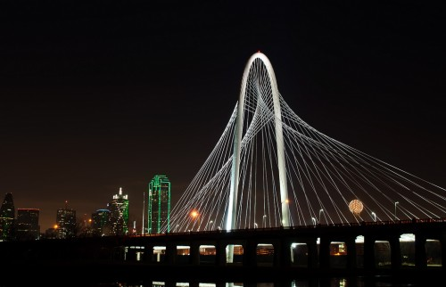 Dallas' Margaret Hunt Hill Bridge. (Marco Becerra)