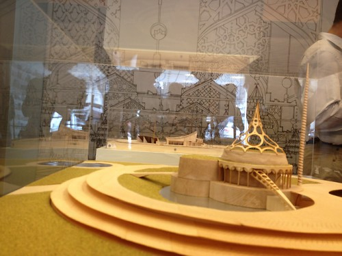 A model of a Frank Lloyd Wright plan for Baghdad. (AN/Stoelker)
