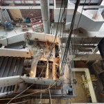 The atrium and grand staircase under construction (KPMB/Tom Arban)