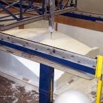 K&A's CNC router cuts EPS foam for FRP shell molds (Kreysler & Associates)