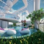 Acqua Livingstone's Pool With Swim Up Bar by MISSONIHOME. (Courtesy Century Properties)