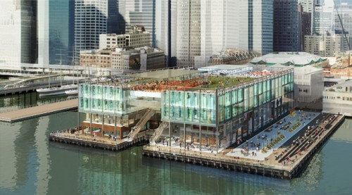 The overview of SHoPs redesign of the Pier 17 at South Street Seaport.