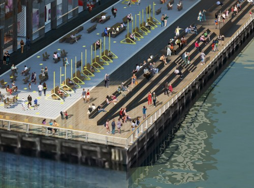 "The new ""Seaport Porch"" will feature waterfront ""getdowns"" and spectacular views of the Brooklyn and Manhattan bridges."
