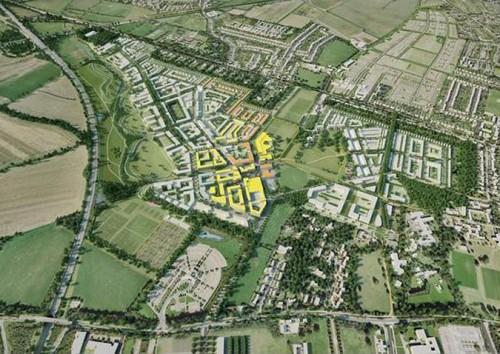 Northwest Cambridge masterplan (courtesy AECOM)