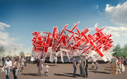 Coca-Cola Beatbox Pavilion at Olympic Park in London (image courtesy of Pernilla and Asif).