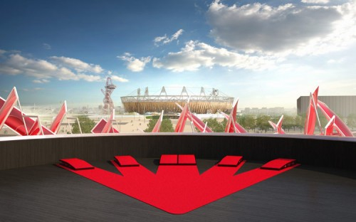 Rooftop rendering of the Beatbox Pavilion (image courtesy of Pernilla and Asif).