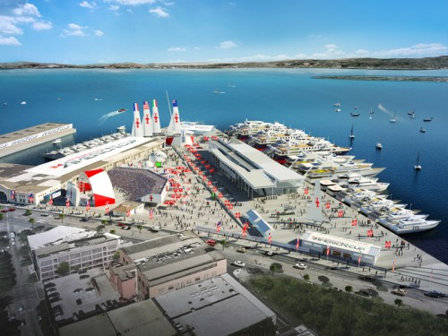 Piers 27-29 would be the focus of the scaled down event, although piers 30-32 may still be in play. (Courtesy America's Cup)