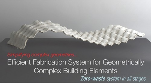 Efficient Fabrication System for Geometrically Complex Building Elements, London, UK