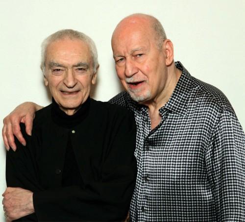 Massimo Vignelli and George Lois. (Courtesy Phaidon)