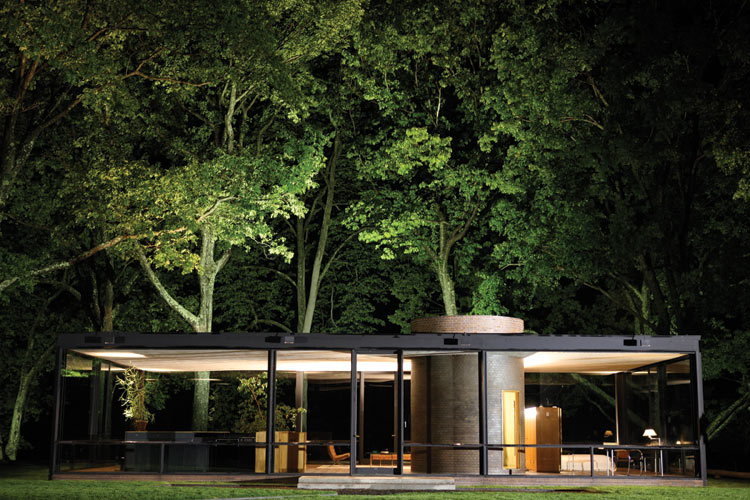 Philip johnson glass house pictures