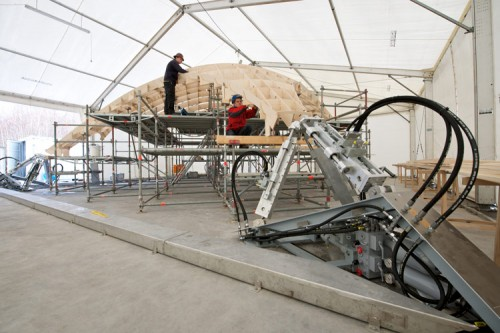 A new shell structure will be tested on April 16 in Stuttgart.