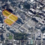 Amazon recently purchased these three blocks in South Lake Union. Designs for a three tower complex are being reviewed by the city. (Seattle.gov)