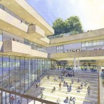 A rendering of the building's courtyard (Boora Architect's)