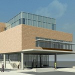 A rendering of the new Teaching and Learning Center (Boora Architects)