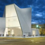 West-facing facade at night (Courtesy Steven Holl Architects)