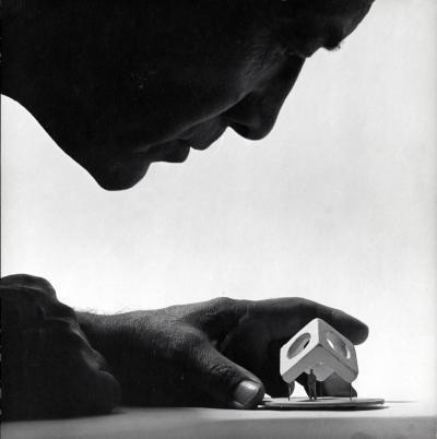 Noguchi Skyviewing model, 1969. (Courtesy Noguchi Museum)