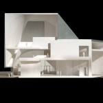 Sectional model, facing west (Courtesy Steven Holl Architects)