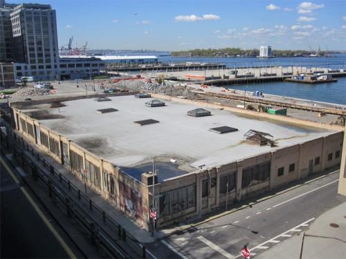 Site of the Brooklyn Bridge Park Fieldhouse. (Courtesy Brooklyn Bridge Park Corporation)