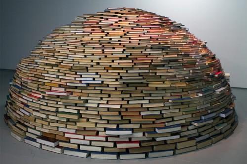 A corbel dome made of books. (Courtesy Miler Lagos)