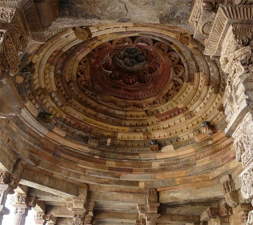 A corbel dome in the Qutb mosque in India. (Varun Shiv Kapur/Flickr)