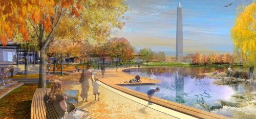 Constitution Gardens proposal by Andropogon and Bohlin Cywinski Jackson.