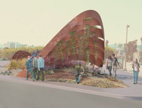 "Rendering of ""Bloomrs,"" planned as a future Silver Lake landmark (All That Is Solid)"