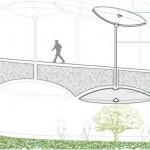 A section showing how the solar collectors could divert sunlight into the Low Line. (Courtesy Delancey Underground)