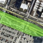 A site plan showing the bounds of the Low Line, which is about the size of Gramercy Park. (Courtesy Delancey Underground)