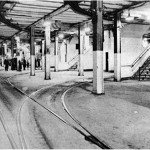 The trolley terminal in operation in the 1930s. (Courtesy Delancey Underground)