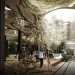 A rendering of what the Low Line could look like under Delancey Street. (Courtesy Delancey Underground)