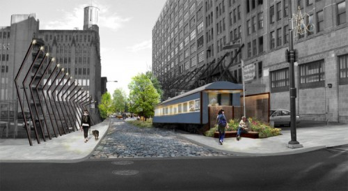 Proposed entry to the SEPTA Spur (image courtesy of Studio Bryan Hanes).
