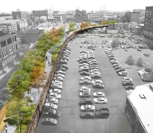 Aerial of proposed park (image courtesy of Studio Bryan Hanes).