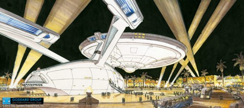 1992 Downtown Las Vegas proposal that was nearly built. (Courtesy Goddard Group)