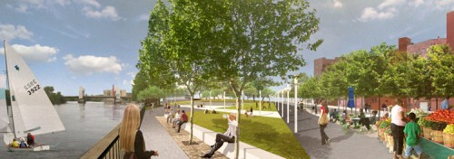 Troy Riverside Park set to open this summer (image courtesy of W-Architecture).