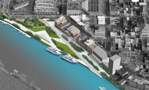 Proposed plan for Troy Riverside Park (image courtesy of W-Architecture).