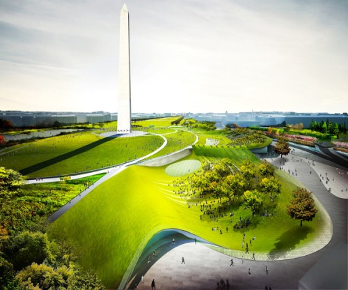 Proposal for the Washington Monument Grounds by Diller Scofidio+Renfro and Hood Design..