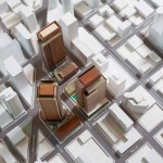 The proposed building massing and orientation for Amazon's three block complex. (Seattle.gov)