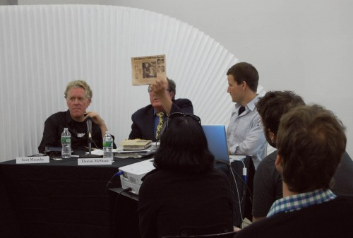 Filmmaker Magazine's Scott Macauley, Retired Special Agent Thomas McShane, and Studio-X's Geoff Manaugh
